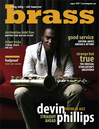 Devin Phillips: August cover of Brass Magazine