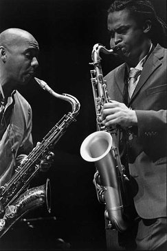 Devin Phillips and Branford Marsalis at the Jazz Festival